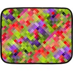 Colorful Mosaic Double Sided Fleece Blanket (Mini)  35 x27 Blanket Front
