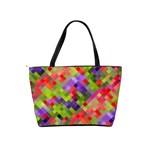 Colorful Mosaic Shoulder Handbags Back