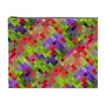 Colorful Mosaic Cosmetic Bag (XL) Front