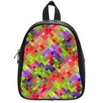 Colorful Mosaic School Bags (Small)  Front