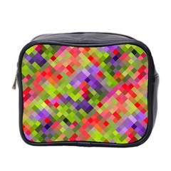 Colorful Mosaic Mini Toiletries Bag 2 Side