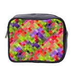Colorful Mosaic Mini Toiletries Bag 2-Side Front