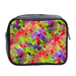 Colorful Mosaic Mini Toiletries Bag 2-Side Back