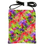 Colorful Mosaic Shoulder Sling Bags Front