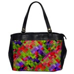 Colorful Mosaic Office Handbags Front