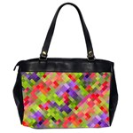 Colorful Mosaic Office Handbags (2 Sides)  Back