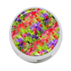 Colorful Mosaic 4 Port Usb Hub (two Sides)