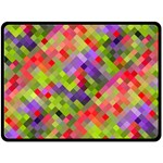 Colorful Mosaic Fleece Blanket (Large)  80 x60 Blanket Front