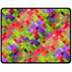 Colorful Mosaic Fleece Blanket (Medium)
