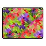 Colorful Mosaic Fleece Blanket (Small) 50 x40 Blanket Front