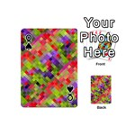Colorful Mosaic Playing Cards 54 (Mini)  Front - SpadeQ