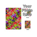 Colorful Mosaic Playing Cards 54 (Mini)  Front - Heart5