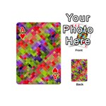 Colorful Mosaic Playing Cards 54 (Mini)  Front - HeartA