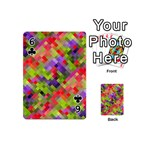 Colorful Mosaic Playing Cards 54 (Mini)  Front - Club6