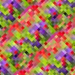 Colorful Mosaic Storage Stool 12   Left