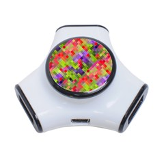 Colorful Mosaic 3 Port Usb Hub