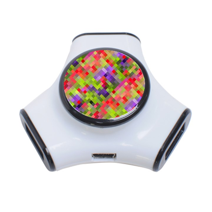 Colorful Mosaic 3-Port USB Hub