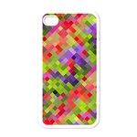 Colorful Mosaic Apple iPhone 4 Case (White) Front