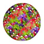 Colorful Mosaic Round Filigree Ornament (2Side) Front