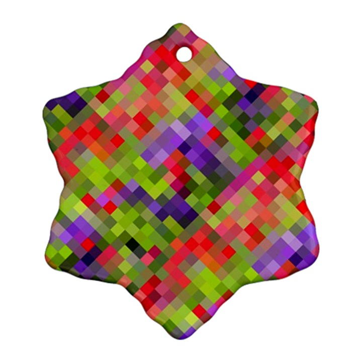 Colorful Mosaic Snowflake Ornament (2-Side)