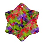 Colorful Mosaic Snowflake Ornament (2-Side) Back