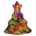 Colorful Mosaic Christmas Tree Ornament (2 Sides) Back