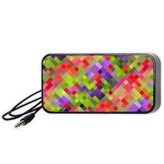 Colorful Mosaic Portable Speaker (black)