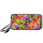 Colorful Mosaic Portable Speaker (Black)  Front