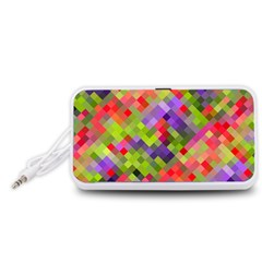 Colorful Mosaic Portable Speaker (White)
