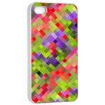 Colorful Mosaic Apple iPhone 4/4s Seamless Case (White) Front