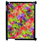 Colorful Mosaic Apple iPad 2 Case (Black) Front