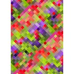 Colorful Mosaic Heart 3D Greeting Card (7x5) Inside