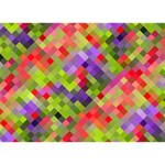 Colorful Mosaic Apple 3D Greeting Card (7x5) Back
