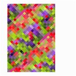 Colorful Mosaic Large Garden Flag (Two Sides) Back