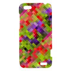 Colorful Mosaic HTC One V Hardshell Case