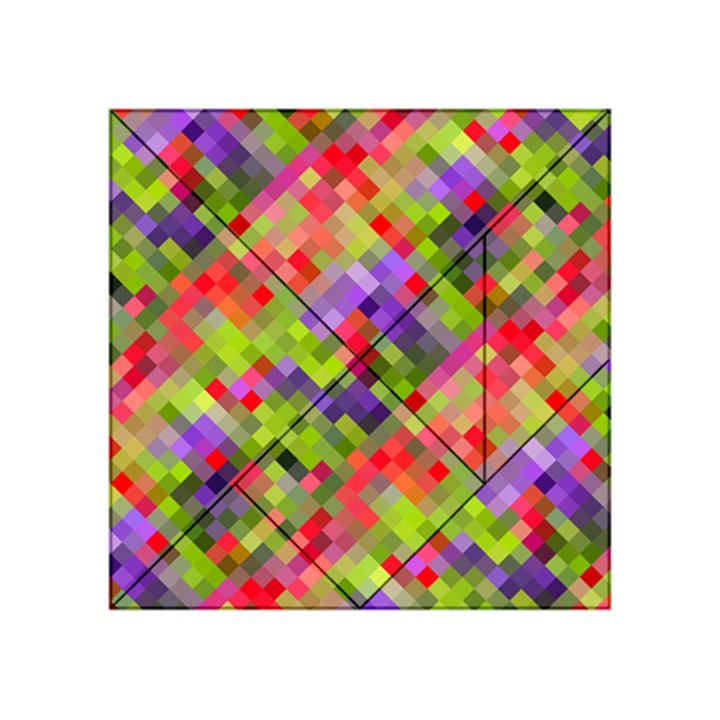 Colorful Mosaic Acrylic Tangram Puzzle (4  x 4 )