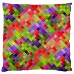 Colorful Mosaic Large Cushion Case (Two Sides) Back