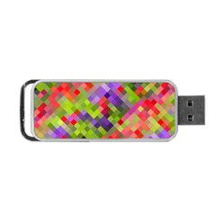 Colorful Mosaic Portable USB Flash (One Side)