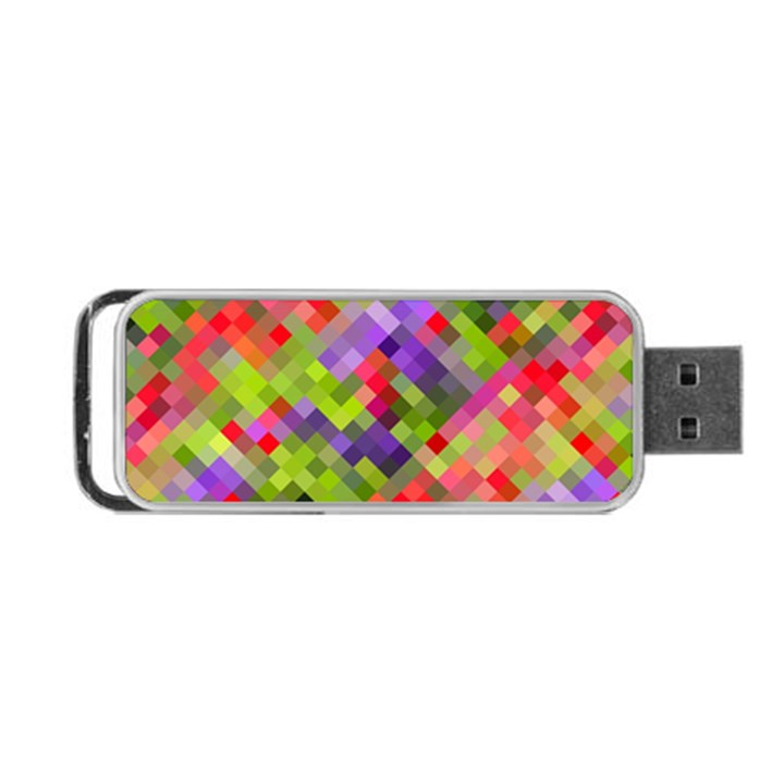 Colorful Mosaic Portable USB Flash (Two Sides)