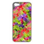 Colorful Mosaic Apple iPhone 5 Case (Silver) Front