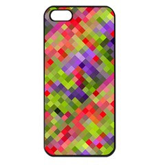Colorful Mosaic Apple iPhone 5 Seamless Case (Black)