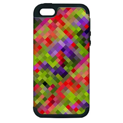 Colorful Mosaic Apple iPhone 5 Hardshell Case (PC+Silicone)