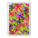 Colorful Mosaic Apple iPad Mini Case (White) Front