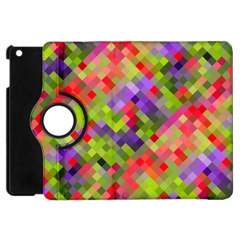 Colorful Mosaic Apple iPad Mini Flip 360 Case