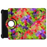 Colorful Mosaic Kindle Fire HD Flip 360 Case Front