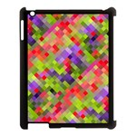 Colorful Mosaic Apple iPad 3/4 Case (Black) Front