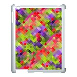 Colorful Mosaic Apple iPad 3/4 Case (White) Front