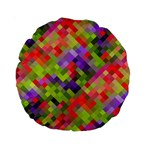 Colorful Mosaic Standard 15  Premium Round Cushions Front