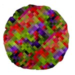 Colorful Mosaic Large 18  Premium Round Cushions Front