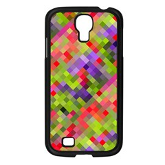 Colorful Mosaic Samsung Galaxy S4 I9500/ I9505 Case (Black)